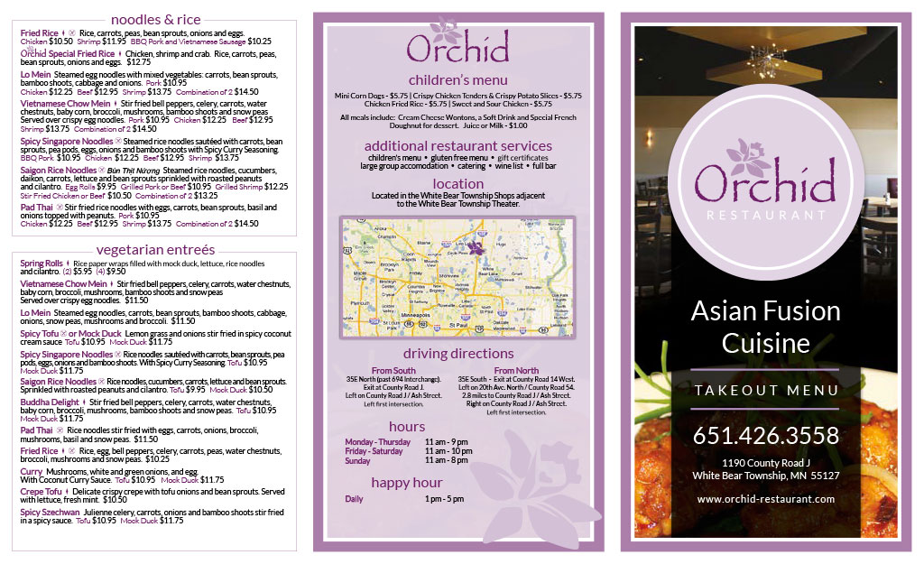 Orchid Restaurant Menu Asian Fusion Cuisine - Outside (1)