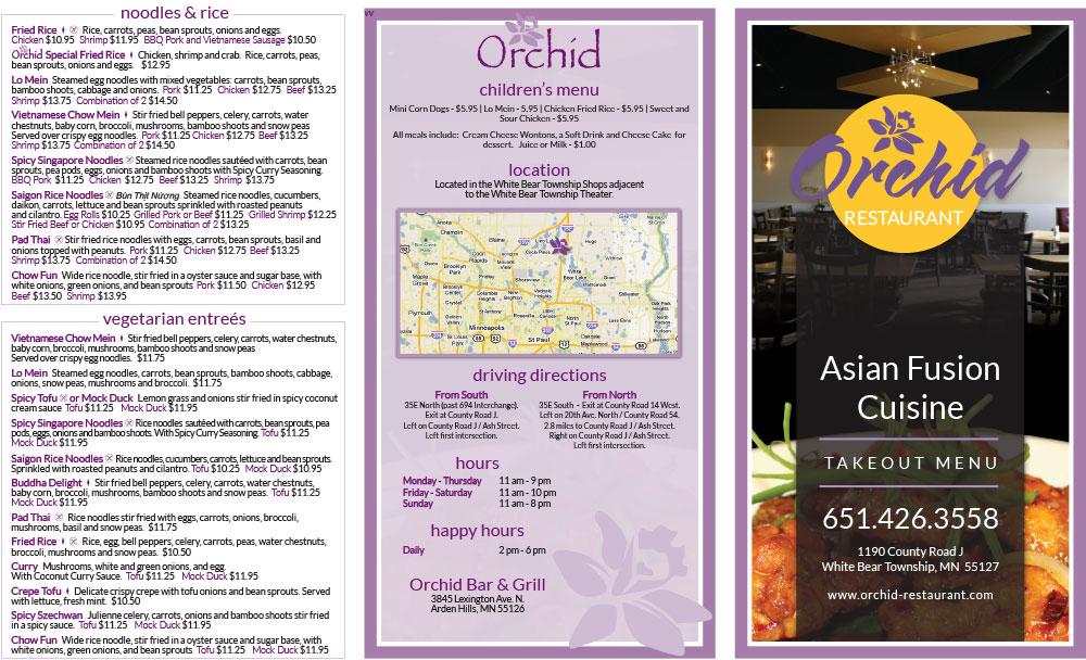 Orchid Restaurant Menu Asian Fusion Cuisine - Outside (1)